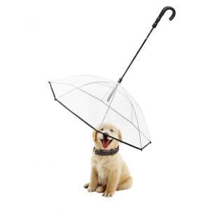 ペット用傘 ペット用品 レイングッズ アンブレラ 犬用傘 雨具 透明雨の日に散歩 リード接続 チェーンイ付き 超撥水 風邪防止 猫用 小型犬 中型犬 krisonstore