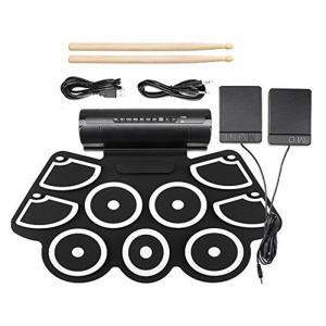 ドラムトレーニングもできる9パッドタイプのシリコン製電子ドラムパッドです。  ポップ、ロック、ラテン...
