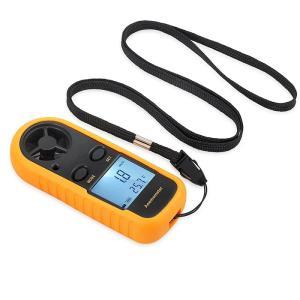 デジタル風速計 温度計搭載 小型 ポケットアネモメーター データホルド機能 ビューフォート風力階級表