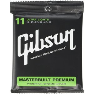 Gibson ギブソン アコースティックギター弦 Masterbuilt Premium ウルトラライトゲージ 011-052 SAG-MB11|krsfyk
