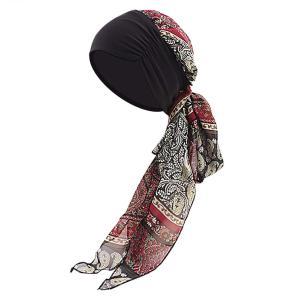 ロングターバンキャップ バンダナ帽子 レディース ボヘミアン調 ヘッドバンド 帽子 汗止め 通気 速乾 柔らかい UVカット 紫外線対策 多機能 多用途 春夏 薄手 お|krsfyk