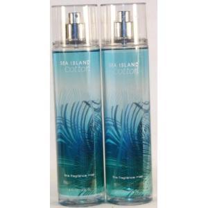 bath and body works フレグランス 2 X Bath Body Works Sea Island Cotton 8.0 Oz Fine Fragrance Mist (Set of 2 - 8 Oz Each) 正規輸入品