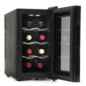 SR-W208K  【商品名】 SunRuck 8本収納 ノンフロン電子式ワインセラー ワイン庫 S...