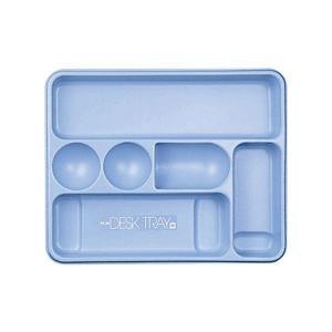 【商品名】 (まとめ) プラス デスクトレー M ブルー63-814 1個 【×10セット】 【ジャ...