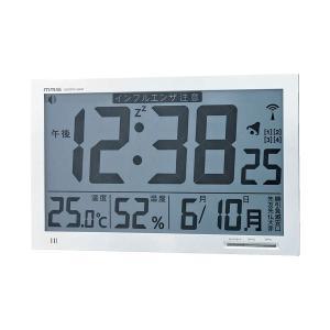 【商品名】 ノア精密 MAG 掛置兼用電波時計 W-602WH   ※詳細は商品説明をご確認下さい。...