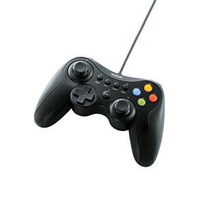エレコム ゲームパッド USB接続 Xinput/DirectInput両対応 Xbox系12ボタン振動/連射 【ドラゴンクエストX 眠れる勇者と導きの盟友 推奨】 ブラック JC-U3613MBK|ks-hobby