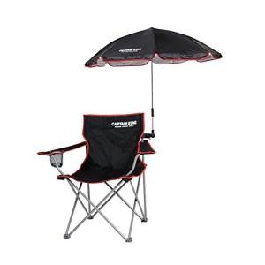 キャプテンスタッグ アウトドア用品チェア用パラソル CS デタッチャブル 椅子用傘 日よけ ブラック UD-42|ks-hobby