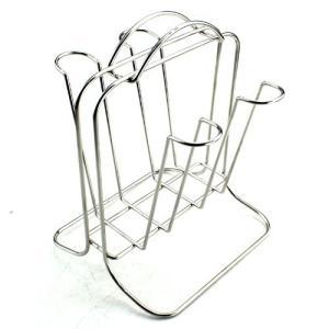 パール金属 アルファージュ ステンレス製 グラススタンド 4個掛け H-9535|ks-hobby