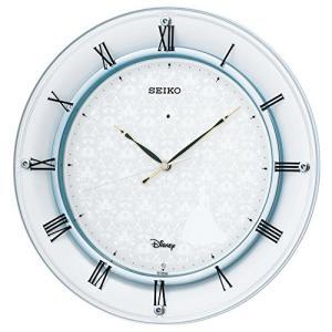 セイコー クロック 掛け時計 シンデレラ 電波 アナログ 金属枠 大人ディズニー 白 パール FS503W SEIKO|ks-hobby