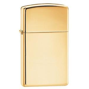 ZIPPO(ジッポー)1654B High Polish Brass/ハイポリッシュブラス(真鍮) ゴールド SLIM SIZE/スリム ZIPPO LIGHTER/ジッポライター[並行輸入品]|ks-hobby