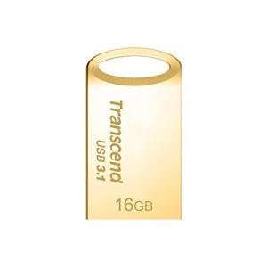 Transcend USBメモリ 16GB USB3.1  USB 3.0 キャップレス ゴールド 耐衝撃 防滴 防塵TS16GJF710G|ks-hobby