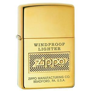 ZIPPO(ジッポー) Brass Lighters (ブラス ライター)真鍮製 日本未発売 High Polish Brass Logo [並行輸入品]