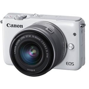 Canon ミラーレス一眼カメラ EOS M10 レンズキット(ホワイト) EF-M15-45mm ...