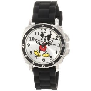 ディズニー Disney Kids' MK1080 Mickey Mouse Black Rubber Strap Watch 男の子 ボーイズ 腕時計 【並行輸入品】