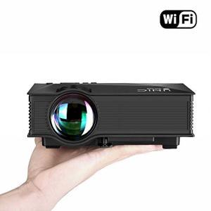 UNIC UC46 LEDプロジェクター 1080P WIFI無線接続 1200ルーメン IOS10も対応 ホームシアター 会議用 (黒)|ks-hobby