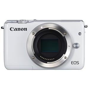 Canon ミラーレス一眼カメラ EOS M10 ボディ(ホワイト) EOSM10WH-BODY 中...