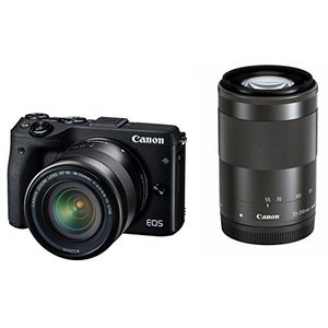 Canon ミラーレス一眼カメラ EOS M3 ダブルズーム...