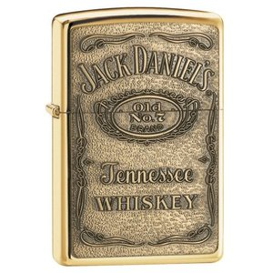 ZIPPO(ジッポー) Jack Daniel's Lighters ( ジャック ダニエル ライター) 日本未発売 High Polish Brass Emblem [並行輸入品]