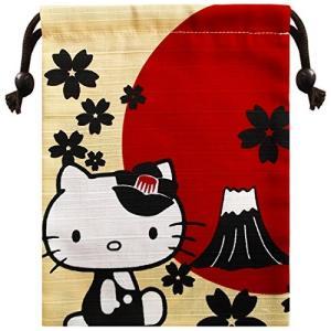 サンリオ ハローキティ キティと富士山 シャンタン巾着 約H20cm x W15.8cm HKKN478|ks-hobby