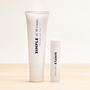 ワセリン 敏感肌 リップクリーム 【SIMPLE Lip Cream VC10 Creamセット】 シンプル 保湿 無添加 美容クリーム ドクターズコスメ|ksc