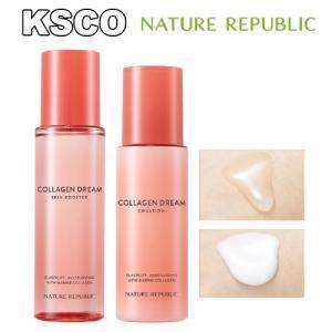 NATURE REPUBLIC ネイチャーリパブリック コラーゲンドリーム90スキンブースター化粧水 コラーゲンドリーム70乳液セット スキンケアセット 韓国コスメ|kscojp