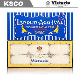Victoria ヴィクトリア スウェーデン エッグ ホワイトソープ 50g×6個セット エッグパック 正規品|kscojp