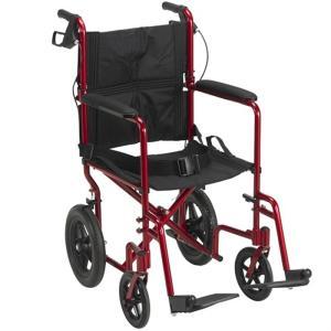 ドライブメディカル 介助式車椅子 コンパクトタイプ (レッド) EXP19LTRD レッド|ksdenki