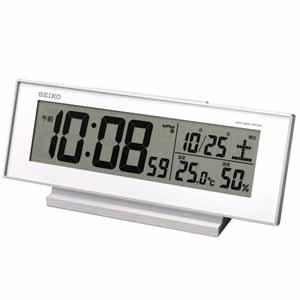 セイコークロック 電波デジタル置き時計 SQ762W