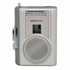 WINTECH AM/FMラジオ付テープレコーダー PCT-02RM シルバー|ケーズデンキ PayPayモール店