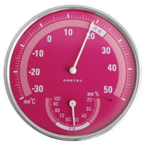 ドリテック 温湿度計PK O-310PK ピンク|ksdenki