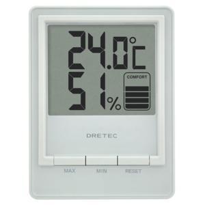 ドリテック 温湿度計 スタシス O-233WT ホワイト|ksdenki