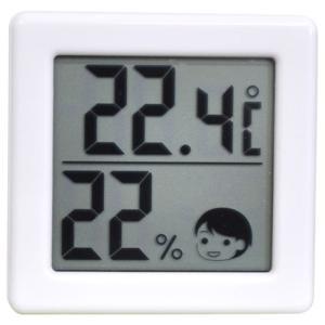 ドリテック デジタル温湿度計 O-257WT ホワイト|ksdenki