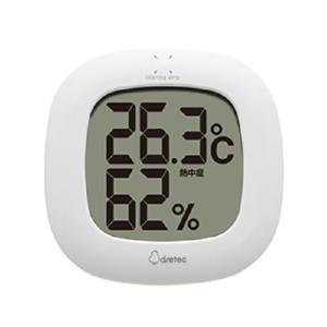 ドリテック デジタル温湿度計 O-295 WT ホワイト|ksdenki