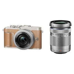 オリンパス 小型一眼カメラ 2本レンズキット(電動ズーム+望遠) 4K PEN(ペン) PEN E-...