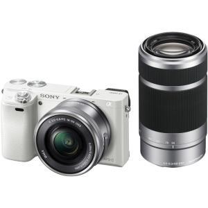 ソニー 小型一眼カメラ 2本レンズキット(電動ズーム+望遠) α(アルファ) α6000 ILCE-...