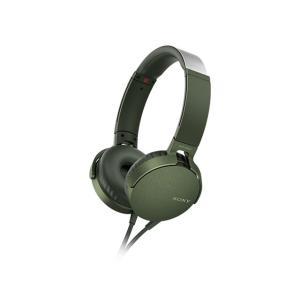 ソニー オーバーヘッド重低音タイプ MDR-XB550AP G グリーン