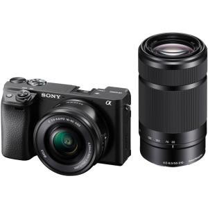 ソニー 小型一眼カメラ 2本レンズキット(電動ズーム+望遠) 4K α6400 ILCE-6400Y...