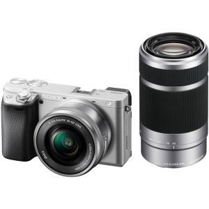 ソニー 小型一眼カメラ 2本レンズキット(電動ズーム+望遠) 4K α6400 ILCE-6400Y S シルバー|ksdenki