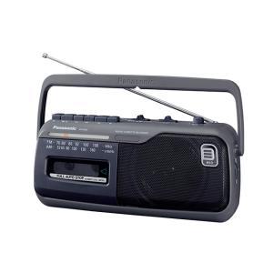 パナソニック ラジオカセットレコーダー RX-M45-H グレー|ksdenki