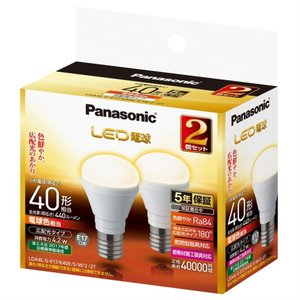 (アウトレット) パナソニック LED電球 LDA4LGE17K40ESW22T 電球色  2個セット 一般電球40W形相当/E17口金 ksdenki