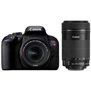 キヤノン 一眼レフカメラ 2本レンズキット(標準ズーム+望遠ズーム) EOS(イオス) KISSX9...