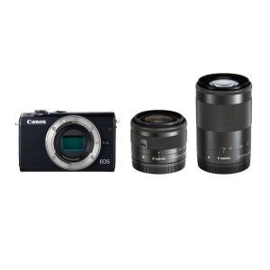 キヤノン 小型一眼カメラ 2本レンズキット(標準ズーム+望遠ズーム) EOS(イオス) EOSM10...