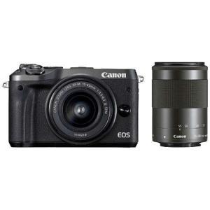 キヤノン 小型一眼カメラ 2本レンズキット(標準ズーム+望遠ズーム) EOS(イオス) EOSM6-...