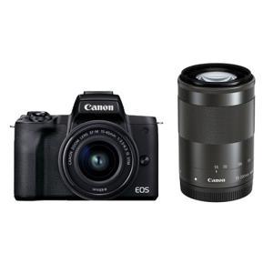 キヤノン 小型一眼カメラ 2本レンズキット(標準ズーム+望遠) 4K EOS(イオス) EOS KI...