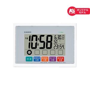 カシオ計算機 電波デジタル掛け置き時計 IDL-105KSJ-7JF ホワイト|ksdenki