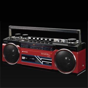 SANSUI Bluetooth 機能搭載ステレオラジオカセット 赤 SCR-B2(RD)|ksdenki