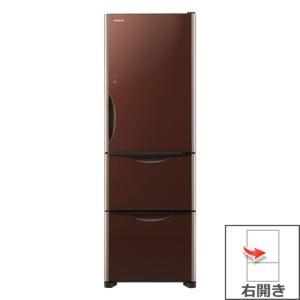 【長期無料保証/標準設置無料】日立 冷蔵庫 R-S3800HV(XT) クリスタルブラウン 右開き 内容量:375リットル|ksdenki