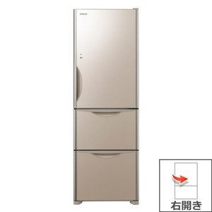 【長期無料保証/標準設置無料】日立 冷蔵庫 R-S3800HV(XN) クリスタルシャンパン 右開き 内容量:375リットル|ksdenki