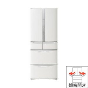 【長期無料保証/標準設置無料】日立 冷蔵庫 R-F51M2(W) パールホワイト 観音開き 内容量:505リットル|ksdenki