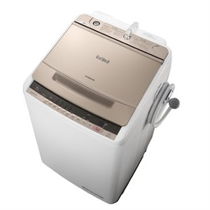 (長期無料保証/標準設置無料) 日立 全自動洗濯機 BW-V80C N シャンパン 洗濯容量:8kg|ksdenki